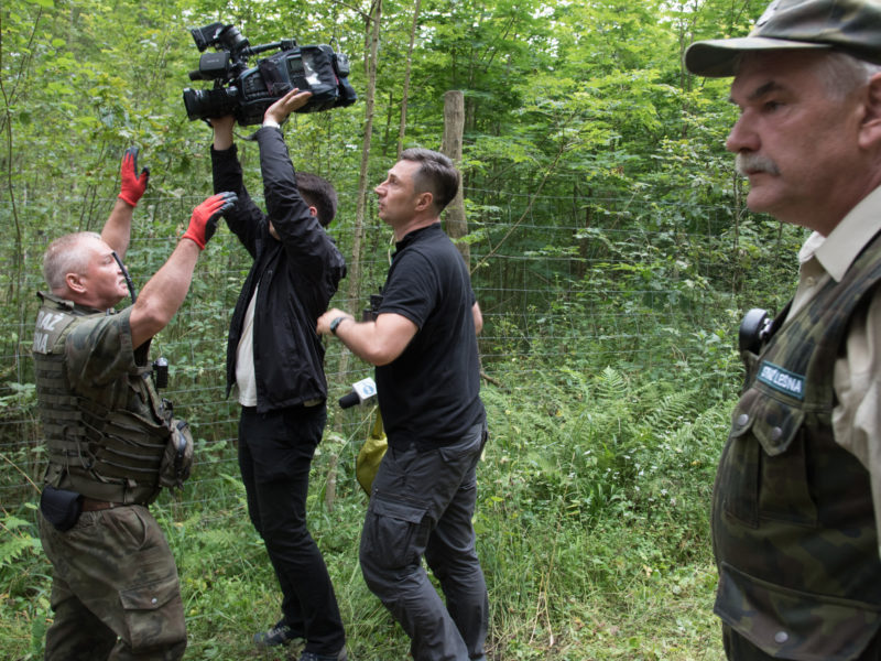 Journalists reporting on the logging taken to court