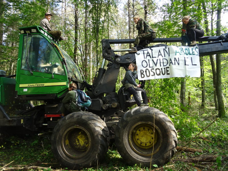 Logging just before the deadline to respond the EU Court of Justice. And another blockade.